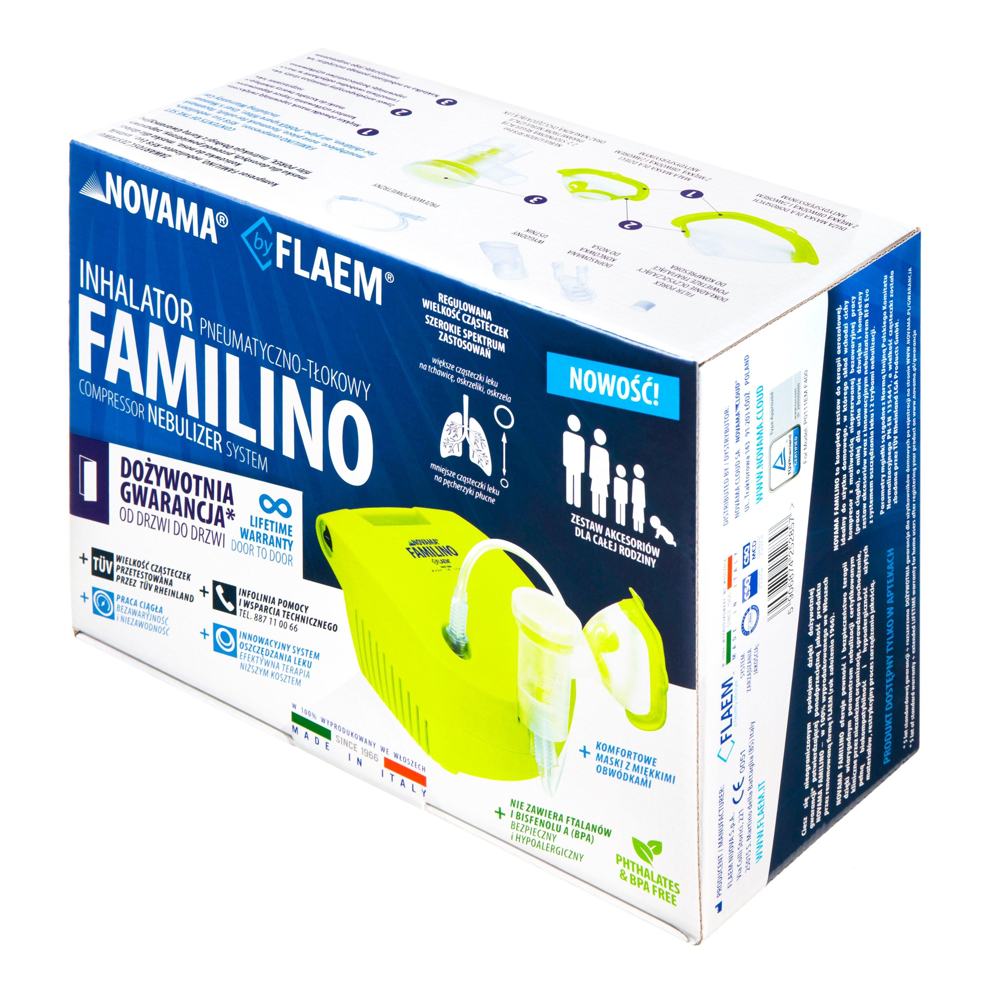 Inhalator Pneumatyczno Tłokowy Z Dożywotnią Gwarancją Novama Familino By Flaem