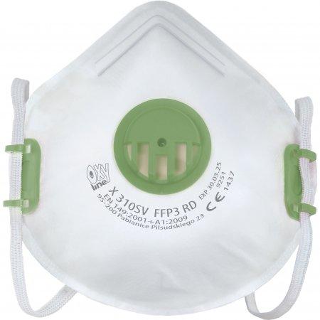 Półmaska filtrująca FFP3 wielorazowa Oxyline X 310 SV RD