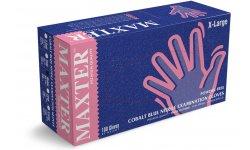 MAXTER rękawice nitrylowe bezpudrowe r. XL - COBALT