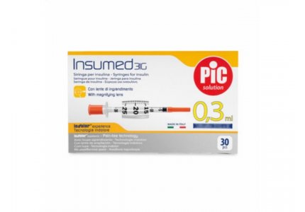 PIC Insumed Strzykawka insulinowa-0,3 ml 31G x 8 mm