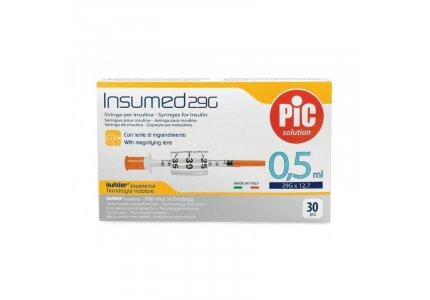 PIC Insumed Strzykawka insulinowa-0,5 ml 29G x 12,7 mm