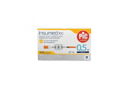 PIC Insumed Strzykawka insulinowa-0,5 ml 30G x 8 mm
