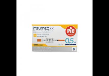 PIC Insumed Strzykawka insulinowa-0,5 ml 30G x 8 mm