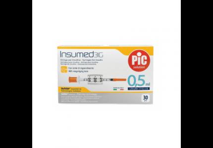 PIC Insumed Strzykawka insulinowa-0,5 ml 31G x 8 mm