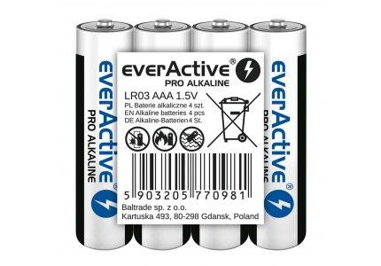 LR03 4T (shrink) everActive Pro Alkaline /folia 4 szt