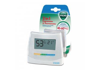 VICKS 2 in 1 Higrometr i termometr