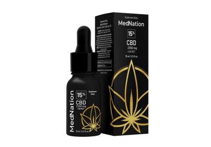 Med Nation CBD RAW 15 ml, 2250 mg, 15%