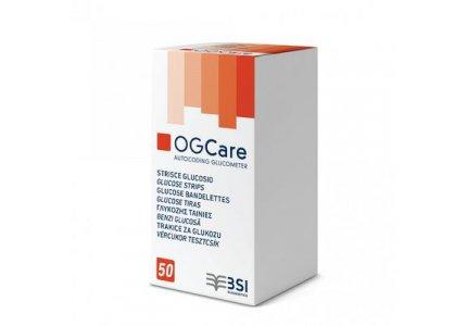 Paski do pomiaru glukozy BSI OGCARE – 50 szt.