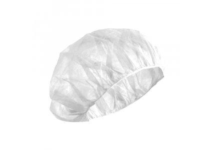 CARINE Czepek medyczny ochronny z włókniny białej - 100 szt.