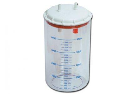 GIMA pojemnik 4L z pokrywą do ssaka CLINIC/HOSPITAL, CLINIC PLUS, HOSPI PLUS