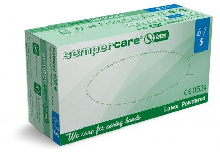 Sempercare LATEX rękawice lateksowe r. S