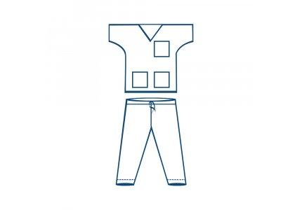 Velo jednorazowe Ubranie zabiegowe bluza + spodnie niebieskie / rozmiar L