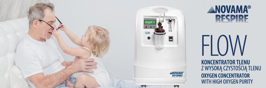 novama Respire Flow medyczny koncentrator tlenu