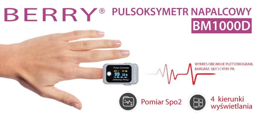 BM1000D pulsoksymetr napalcowy