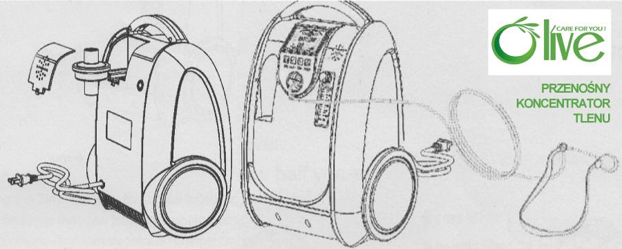 koncentrator tlenu OLIVE przenośny