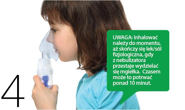 Dziecko z nebulizatorem na twarzy