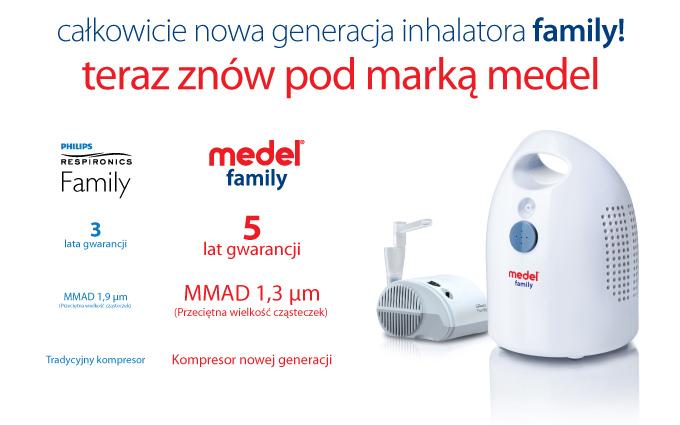 Inhalator Philips Respironics Family zostaje zastąpiony przez Medel Family 2012