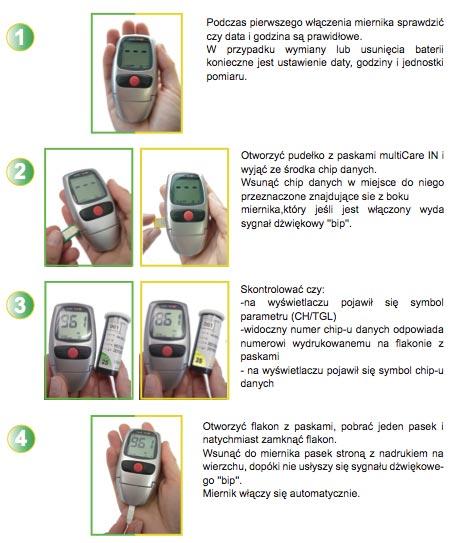 Instrukcja obsługi aparatu do pomiaru cholesterolu i trójglicerydów