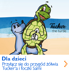 Dla dzieci - dołącz do przygód żółwia Tucker'a i foczki Sami